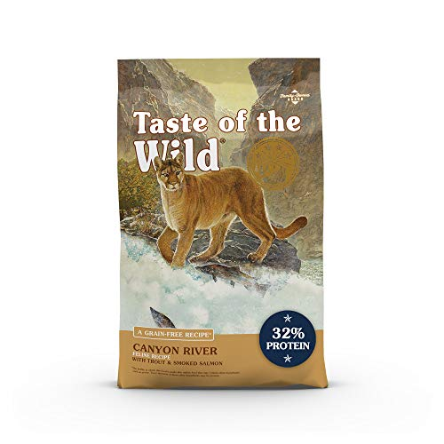 Taste of the Wild Canyon River Grain-Free Recipe with Real Trout and Smoked Salmon Dry Cat Food for...