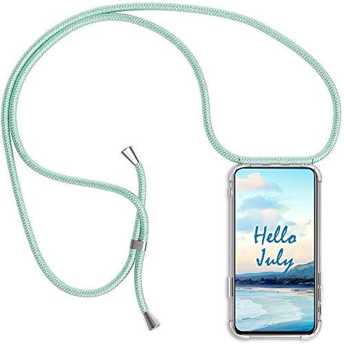 XTCASE Funda con Cuerda para iPhone 6/6s Silicona Transparente, Ultrafina Suave TPU Carcasa de movil con Colgante [Moda y Practico] [Anti-rasguños Anti-Choque] - Verde