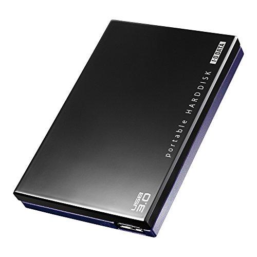 アイ・オー・データ機器 USB3.0/2.0ポータブルHDD超高速カクウスブラック 1TB HDPC-UT1.0KE
