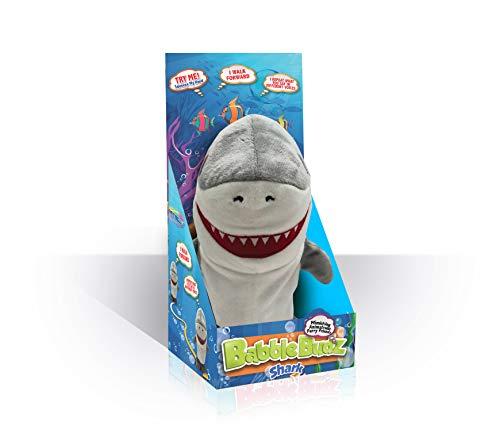 Mindscope Babble Budz Mimicking Animatronic Furry Friends Plush Toy with 3 Voice Filters (Shark)