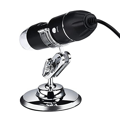 FVDS Adjustable 1600X 3 in 1 USB Digital Microscope Type-C Electronic Microscope Camera for Solding 8 LED Zoom Magnifier Endoscope (Color : 1000X)