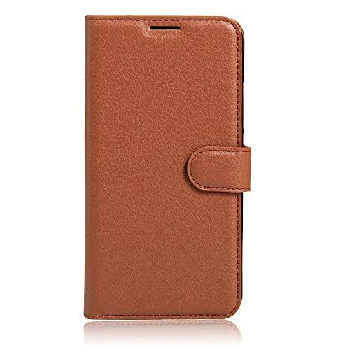 Sangrl Leder Lederhülle Schutzhülle Für LG K5, Wallet Tasche Für LG K5, mit Halterungsfunktion Kartenfächer Flip Hülle Braun