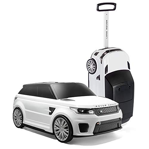 RANGE ROVER TY6108WH Suitcase, Official Sport SVR Convertible Kids Ride On and Suit Case, White