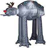 Gemmy Giant Airblown Inflatable at-at with Antlers and Light String