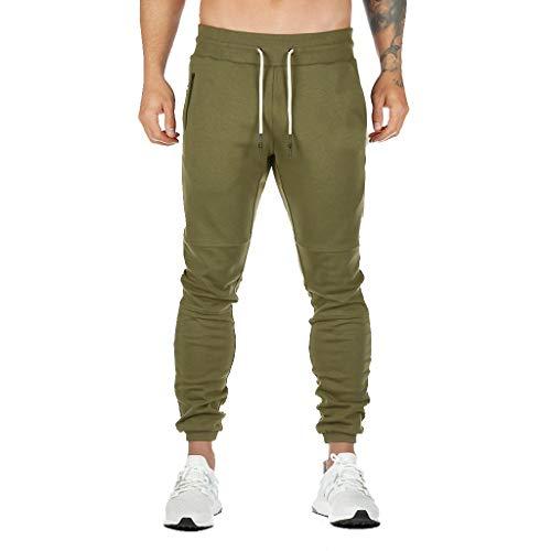 ღLILICATღ Pantalones Deportivos para Hombre Jogger Pantalones de chándal Casuales Deporte Pantalones Largos con cordón Elástico en la Cintura con Dos Bolsillos