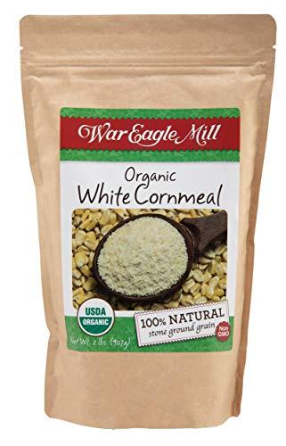 War Eagle Mill Organic White Cornmeal in a resealable bag (2 lbs)