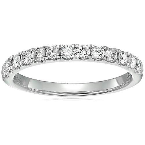 1/2 cttw Diamond Wedding Band 14K White Gold 13 Stones Prong Set Round Size 6.5