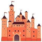 dekodino® Wandtattoo Kinderzimmer Ritterburg in tollen Farben Wandsticker Deko