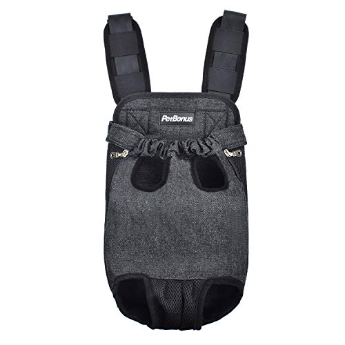 PetBonus Denim Front Kangaroo Pouch Dog Carrier