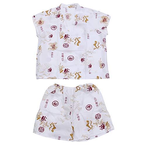 Artibetter 1 Juego de Bata de Algodón de Estilo Japonés Gasa Kimono Pijama Traje Sala de Vapor Desechable Pijama Blanco
