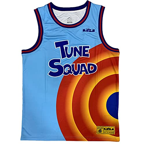 KKSY Maillots de Basket-Ball pour Hommes Space James 6# Maillots Tune Squad Débardeur T-Shirt Respirant sans Manches,Blue,M