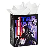 Hallmark 10' Large Star Wars Gift Bag with Tissue Paper (Darth Vader) for Birthdays, Father's Day, Theme Parties and More