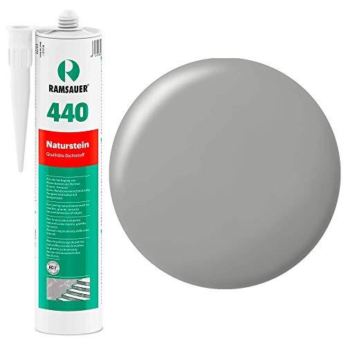 Ramsauer 440 Naturstein grau 1K Silikon Dichtstoff 310ml Kartusche