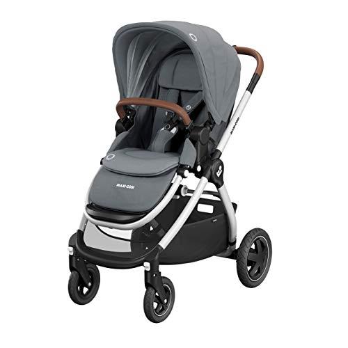Maxi-Cosi Adorra Passeggino per neonati fino a 3,5 anni, passeggino pieghevole e reclinabile in posizione sdraiata, amaca imbottita e grande cestino per la spesa, colore grigio