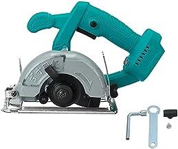 PPuujia Máquina de corte de batería de madera eléctrica sierra circular mango de herramienta eléctrica de eliminación de polvo, máquina de corte multifuncional (color: 5 pulgadas azul)
