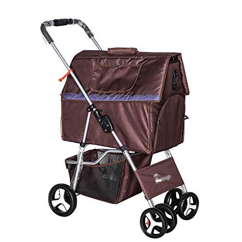 MFZJPet Heimtierbedarf Kinderwagen faltbar waschbar Split-Typ Car Kit Outdoor-Reisen Teddy Kennel Pet House
