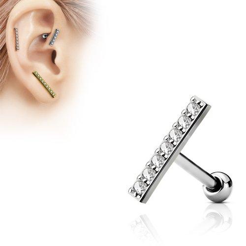 Helix piercing balk variant met steentjes