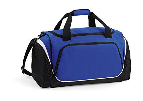 Quadra–Borsone sportivo 55L–qs270–Pro Team Holdall–Colori blu royal/nero/bianco