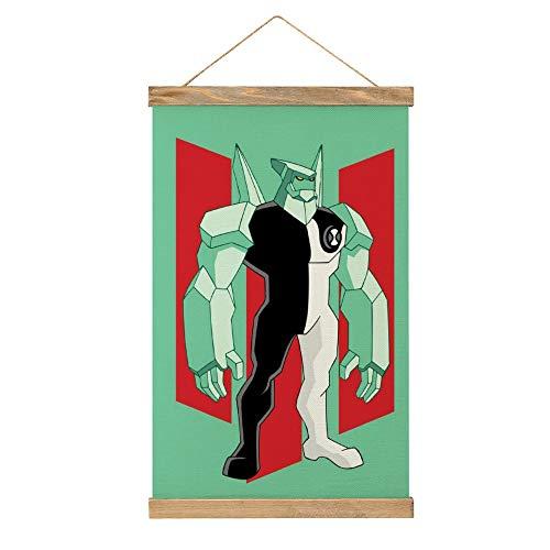 WPQL Ben 10 (4) carteles decorativos cocina, estudio, dormitorio gimnasio