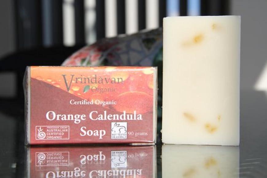 長さ彼は提供されたヴリンダバン オーガニックソープ No.3 Orange Calendula