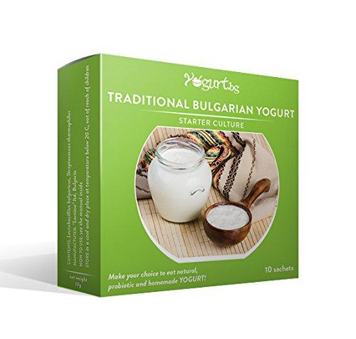 Yogurt.bg Starter Kultur für traditionellen Bulgarischen Joghurt - 10 Beutel für 10 Liter originalen hausgemachten bulgarischen Milchprodukt