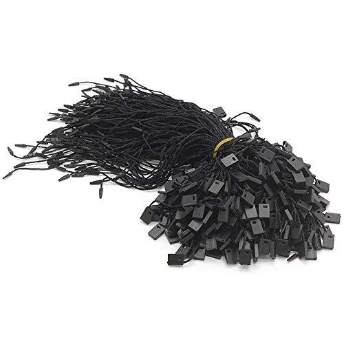 "7"" 1000 Pcs Black Hang Tag Nylon String Snap Lock Pin Loop Fastener Hook Ties"