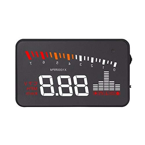Belloc 2019 Multifunction OBD II Car HUD Projector Speedometer Speeding Voltage Alarm