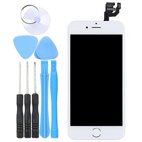LL TRADER Skärm för iPhone 6 Vit 4.7 , Ersättnings LCD-pekskärm Digitizer Ramskärm med Hemknapp + Främre Kamera + Närhetssensor + Hörlurshögtalare + Verktyg