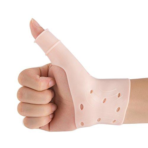 Atmungsaktive Gel-Handgelenk- und Daumenbandage für rechte und linke Hand, lindert Schmerzen im Handgelenk und Daumen, einschließlich Arthritis, Rheuma
