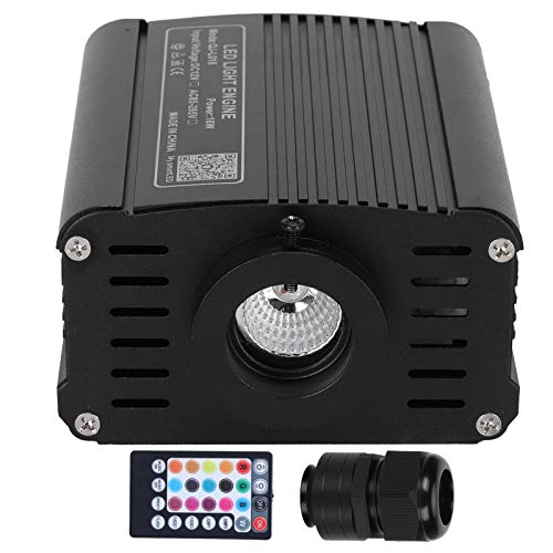 Motor de luz de Fibra óptica, Fuente de Motor de luz de Fibra óptica RGBW Control de Voz LED Iluminación de Techo Decoración