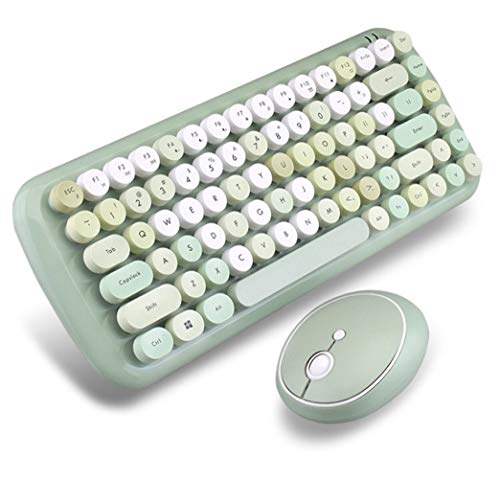 Wireless Keyboard Mouse Set Keycap Manipulator Sense Office Typing Special Notebook Desktop Universal (Color : D)