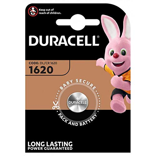 DURACELL CR1620 3V. Battery technology: Lithium, Battery form factor: Button/coin, Battery voltage: 3V by Du