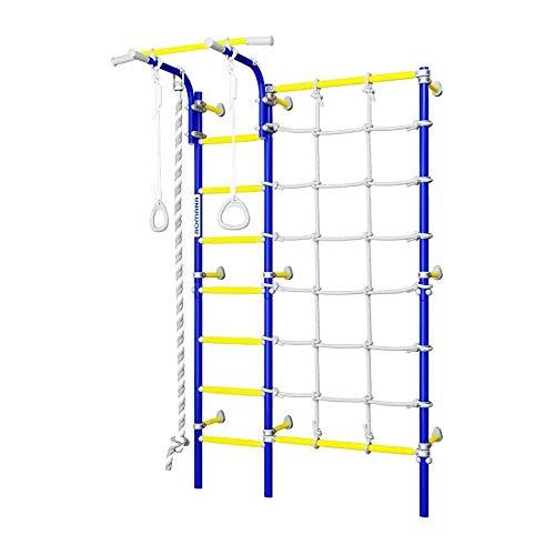 Escalera sueca para niños con barra de dominadas, para montar en la pared