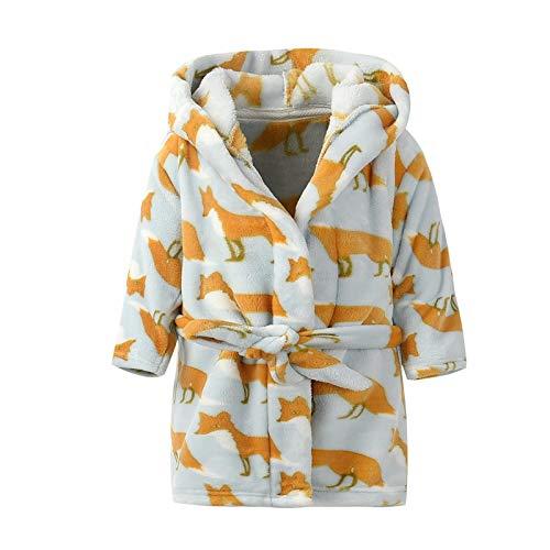 Baby badjas met capuchon jongens meisjes nachtkleding 3-4 Jaren H