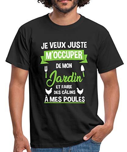 Spreadshirt Poules Jardin Phrase Drôle T-Shirt Homme,...