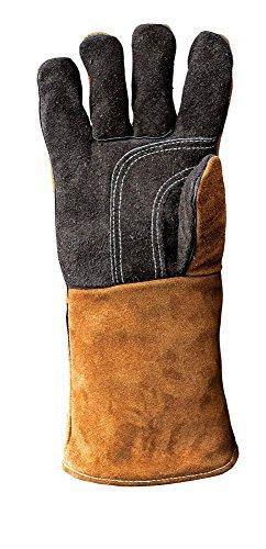 Kamin- & Grillhandschuhe, Hitzeschutz, aus echtem Leder, Right-Hand Glove