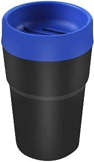 SINOCMP Auto Mülleimer, Multifunktions Auto Organizer Tasche für Auto, Zuhause, Büro, Küche, Mini Auto Dosendeckel für Münzen, Karten usw. (Blau)