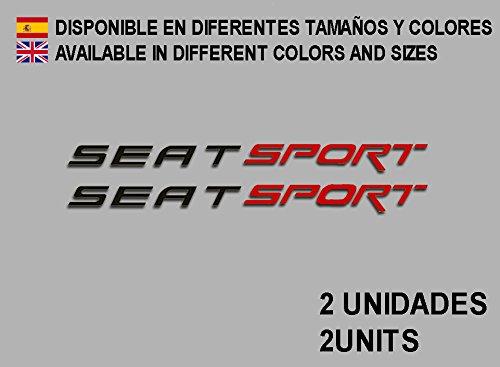 Ecoshirt 1L-H1VY-885H Pegatinas Seat Sport F78 Vinilo
