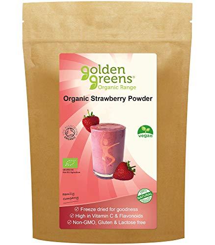 Golden Greens GG78 Bio gefriergetrocknetes Erdbeerpulver 130g