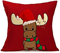 Pengcher Christmas Santa Home Decor Pillowcase Decoration Sofa Car Cushion (Color : As Shown, Size : 45x45cm)