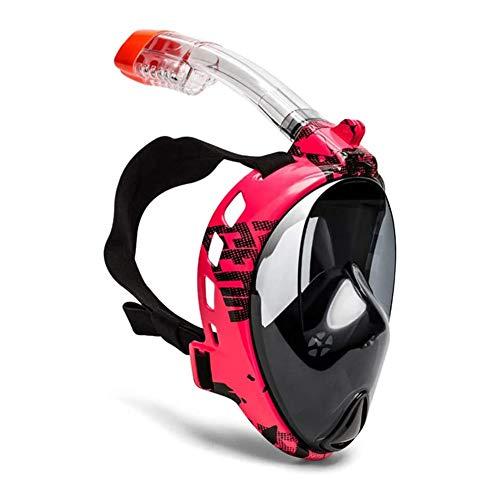 LYYAN Suministros de Buceo Moda Máscara de Buceo Integral Adultos Easybreath Máscara Snorkel Cara Completa 180° Vista Panorámica Anti-Niebla Anti-Fugas Gafas de Bucear Gafas de Natación Deportes