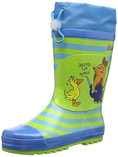 Playshoes Unisex Kinder Wellies Friends For Ever Gummistiefel, Blau Blau 7, 26 27 EU
