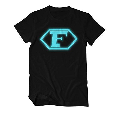 Captain Future Logo T-Shirt Herren X-Large Schwarz