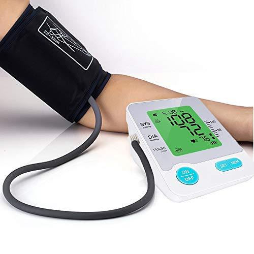 GFPT Digital-Sphygmomanometer LCD-Herzfrequenz-Blutdruckmesser Oberarm Automatisches Haus tragbarer Blutdruckmessgerät (Farbe : with Cuff, Size : No)
