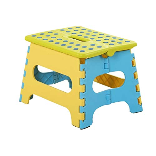 JJZXD Non Slip Pliant Marchepied for Les Enfants et Les Adultes avec l'étape Poignée Pliante Tabouret for Adultes, Cuisine Stepping Tabourets, Jardin Escabeau (Color : A)