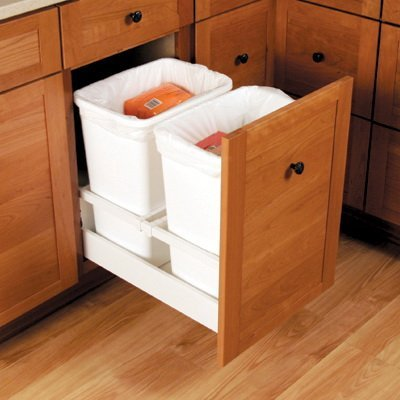 Blum B356m55b7sab Wh Tandembox Waste Bin Hardware For 12 In Open White Cabinet And Furniture Drawer Slides Amazon Com