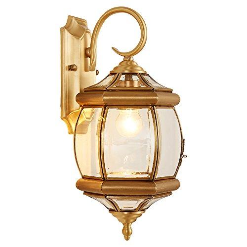 LRW Européenne Type Complet Cuivre Applique Extérieure Étanche Mur Lampe Balcon Escalier Lampe Couloir Rue Lampe Hôtel Ingénierie Lampe Villa