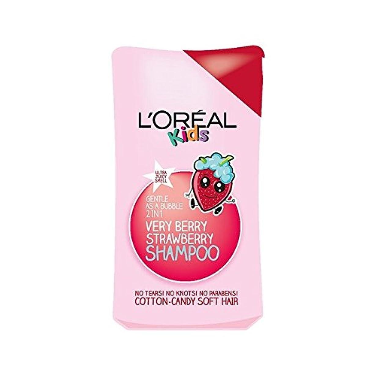 ぶら下がるスリルライナー1シャンプー250ミリリットル中の子供たちは非常にベリーストロベリー2 (L'Oreal) - L'Oreal Kids Very Berry Strawberry 2 in 1 Shampoo 250ml [並行輸入品]