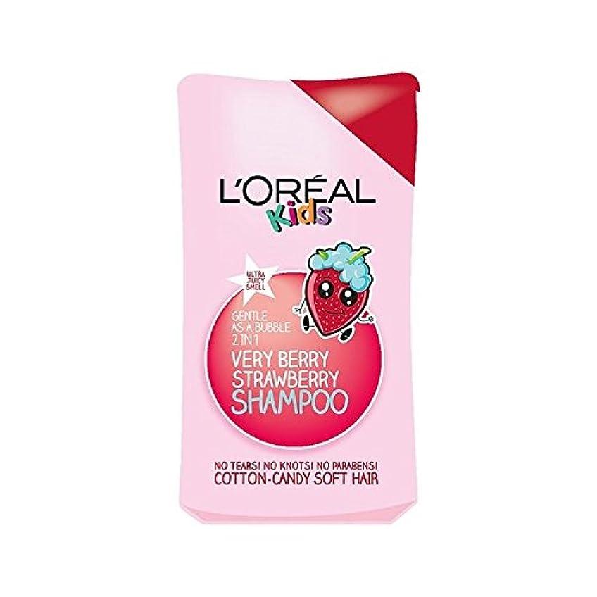 熱帯の複数相対性理論1シャンプー250ミリリットル中の子供たちは非常にベリーストロベリー2 (L'Oreal) (x 4) - L'Oreal Kids Very Berry Strawberry 2 in 1 Shampoo 250ml (Pack of 4) [並行輸入品]