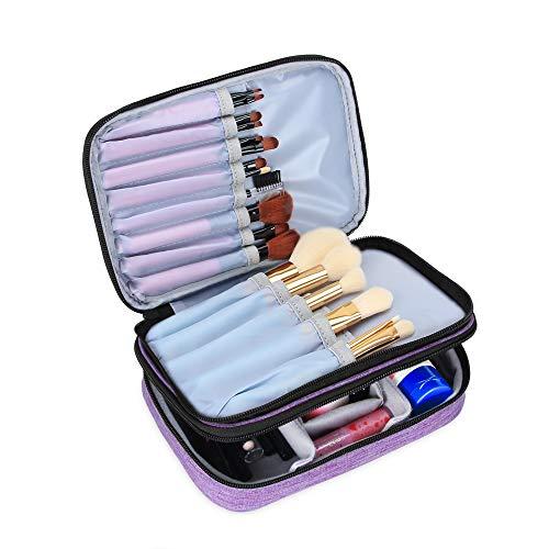 Teamoy Pinseltasche Kosmetik, Reise Kosmetiktasche für Kosmetik Pinsel, Make up Zubehör(nicht mehr als 8.8 Zoll/ 23cm) (Kein Zubehör im Lieferumfang enthalten), Lila